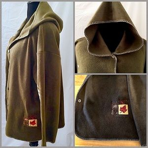 ✂️ATTRACTION Olive Jacket with Ivory Whipstitching